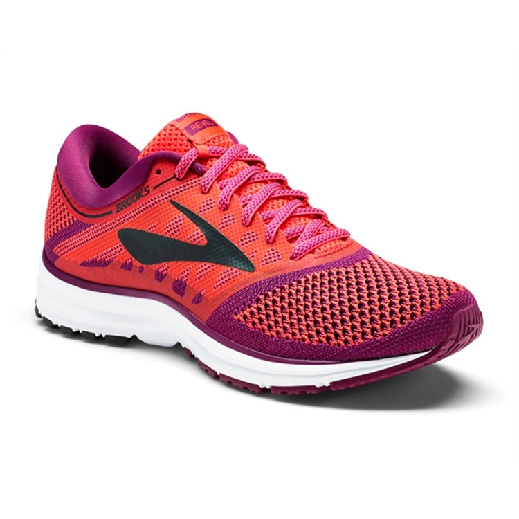brooks Women's Revel Diva Pink / Plum / Black