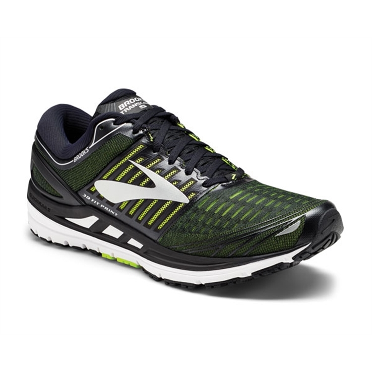 brooks Men's Transcend 5 Black / Nightlife / Silver