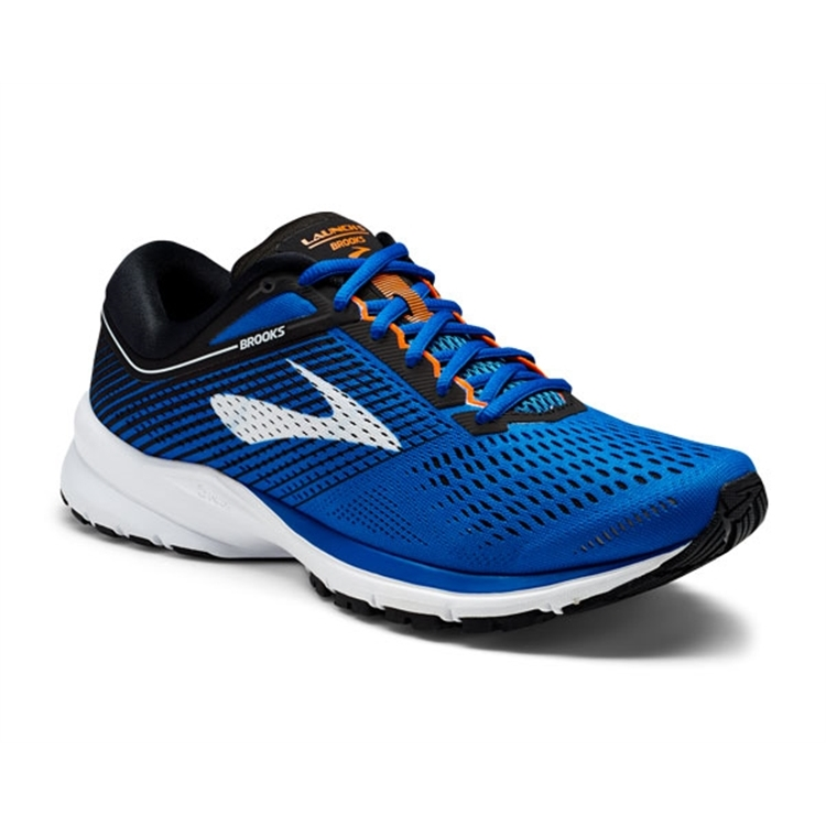 brooks Men's Launch 5 Blue / Black / Orange