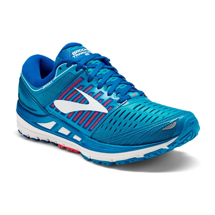 brooks Women's Transcend 5 Blue / Pink / White