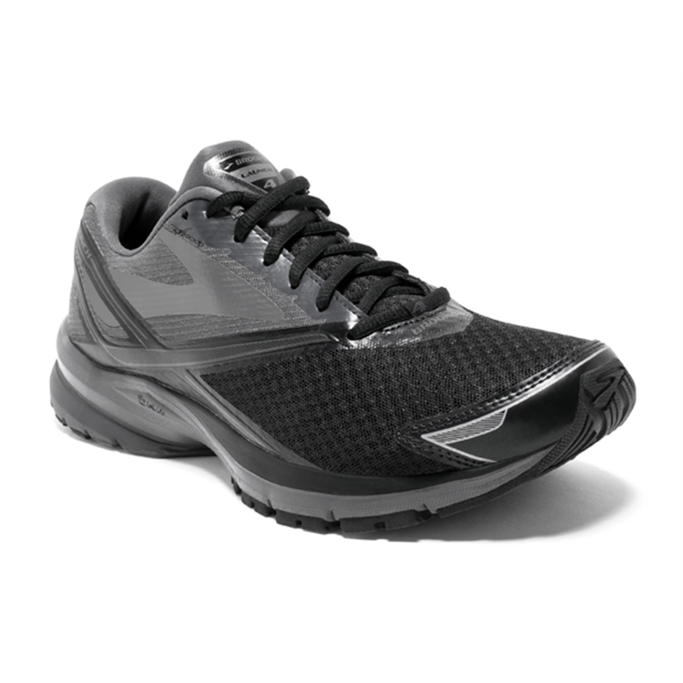 brooks Men's Launch 4 Black / Anthracite / Silver