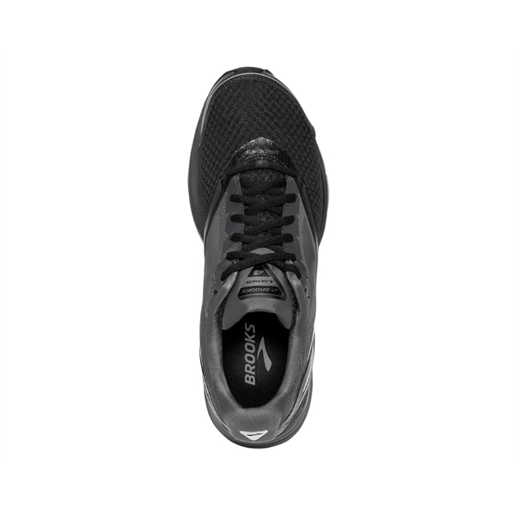 brooks Men\'s Launch 4 Black / Anthracite / Silver