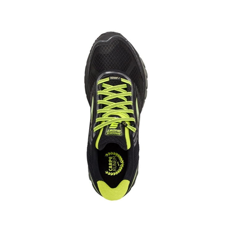 brooks Men\'s Ghost GTX 9 Castlerock / Lime Punch / Black