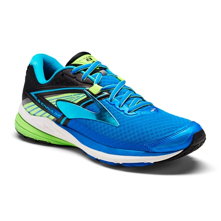 brooks Men's Ravenna 8 Blue Lemonade / Black / Green