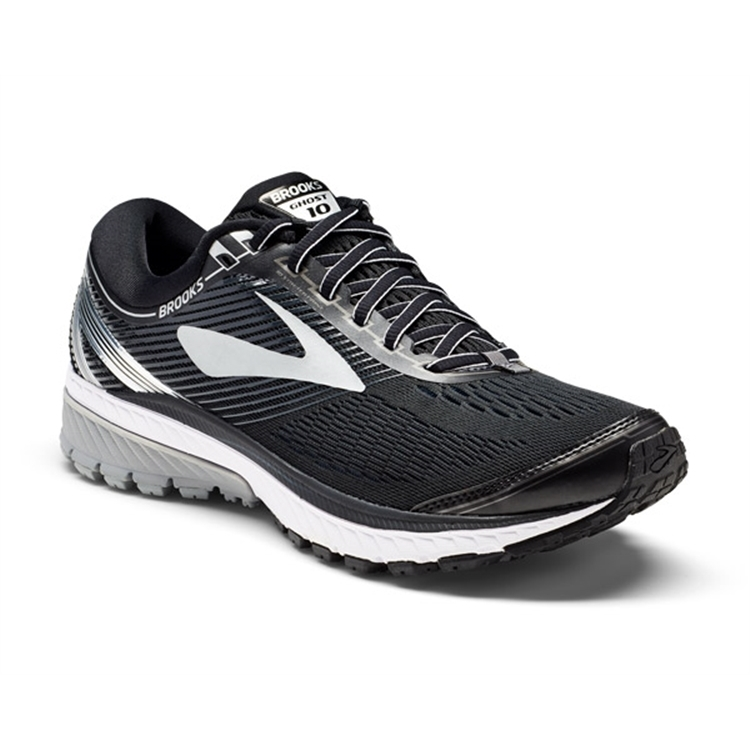 brooks Men's Ghost 10 Black / Silver / Ebony