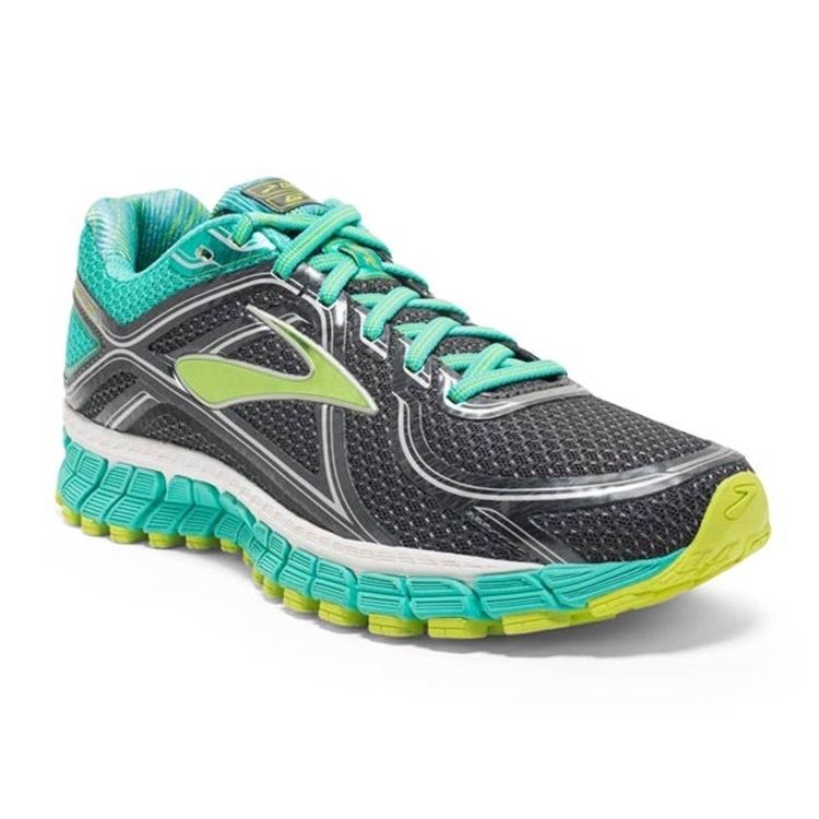brooks Women's Adrenaline GTS 16 Aqua Green / Lime Punch
