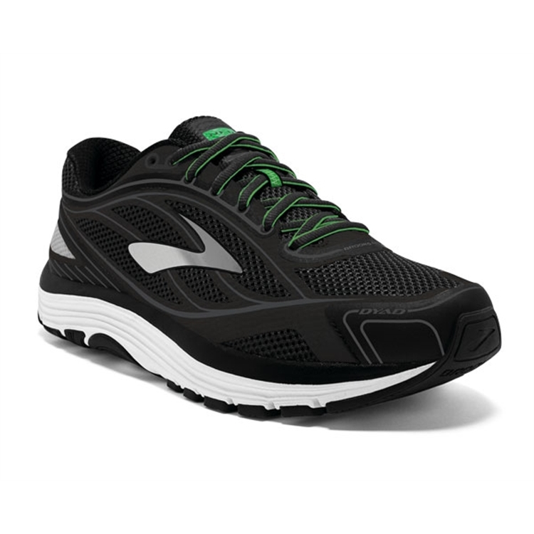 brooks Men's Dyad 9 Black / White / Green