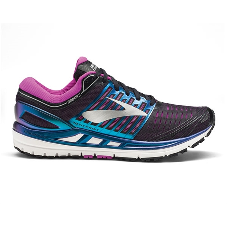 brooks Women\'s Transcend 5 Black / Purple / Multi