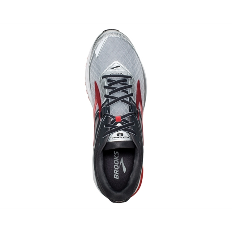 brooks Men\'s Ravenna 8 Silver / Anthracite / Red