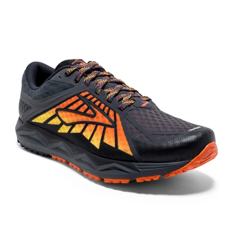 brooks Men's Caldera Black / Red / Orange