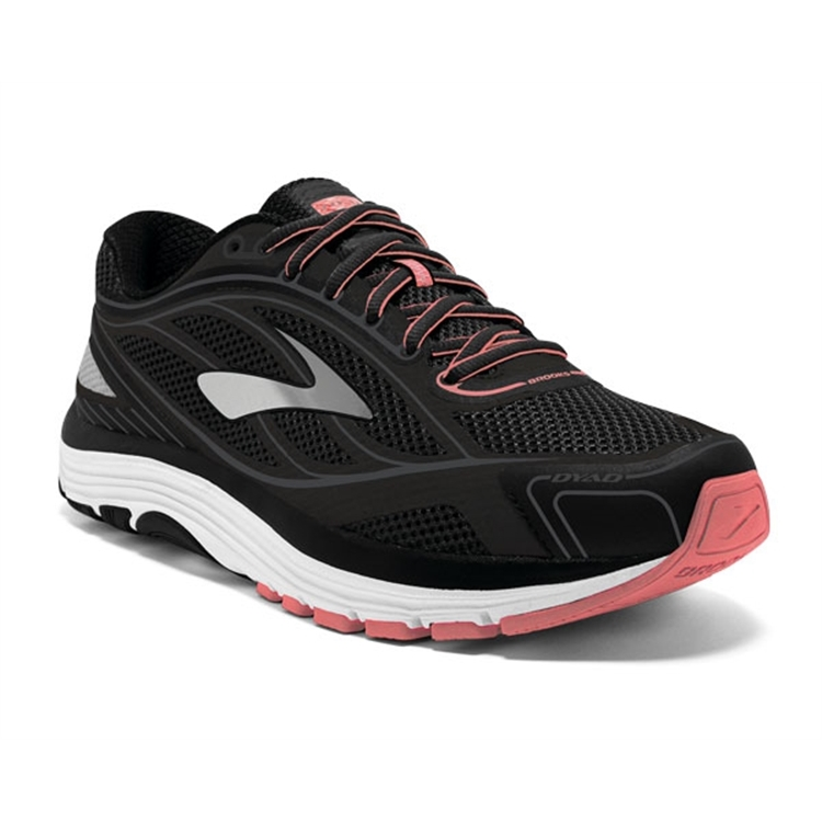 brooks Women's Dyad 9 Black / White / Sugar Coral