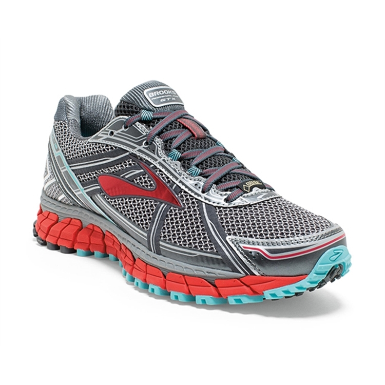 brooks Women's Adrenaline ASR 12 GTX Anthracite / Hibiscus / Capri