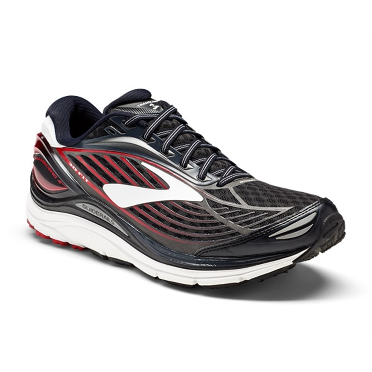 brooks Men's Transcend 4 Black / Anthracite / Toreador