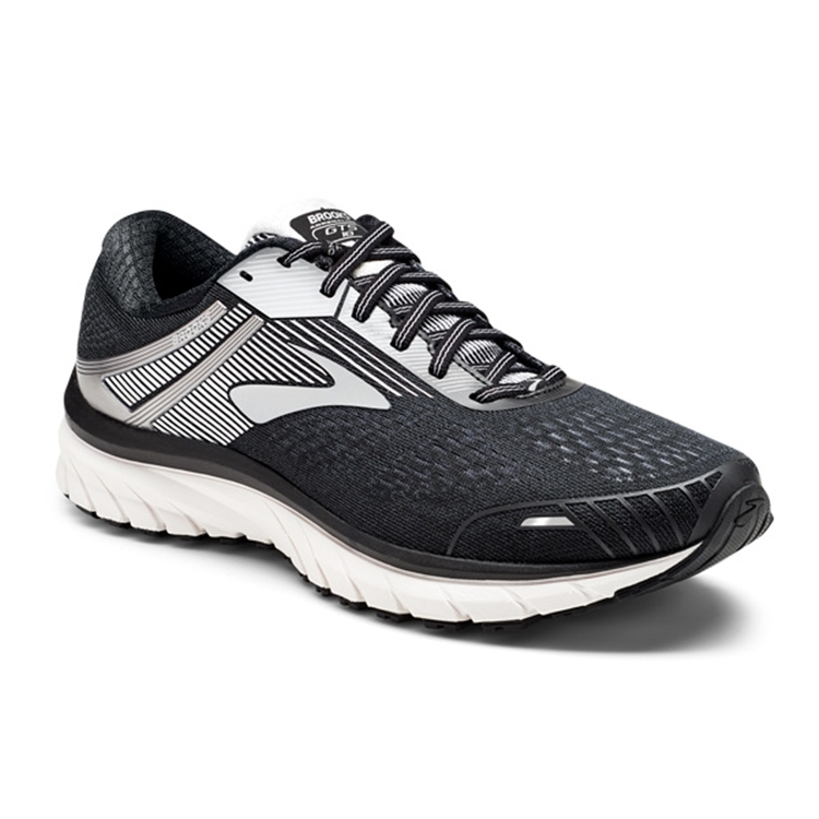 brooks Men's Adrenaline GTS 18 Black / Silver / White