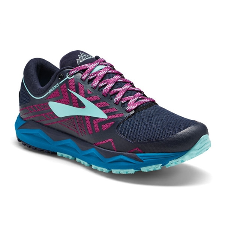 brooks Women's Caldera 2 Navy / Plum / Ice Blue