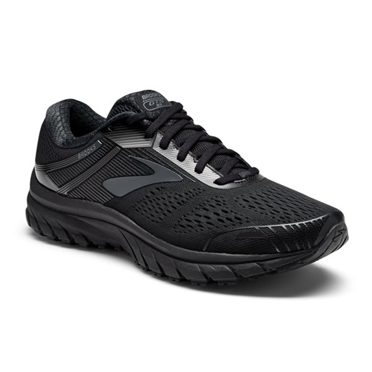 brooks Men's Adrenaline GTS 18 Black / Black