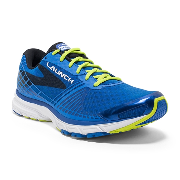 brooks Men's Launch 3 Brooks Blue / Lime Punch / Black