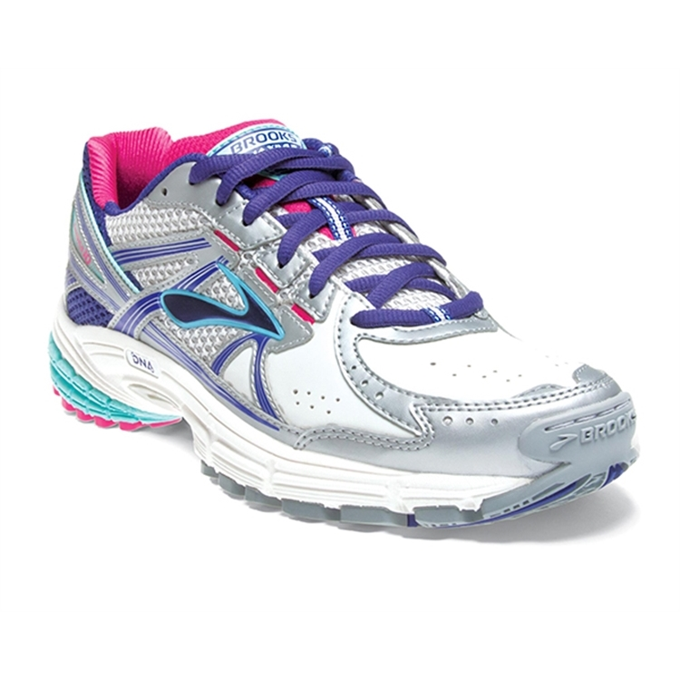 brooks Women's Maximus XT 10 Leather White / Spectrum Blue / Purple
