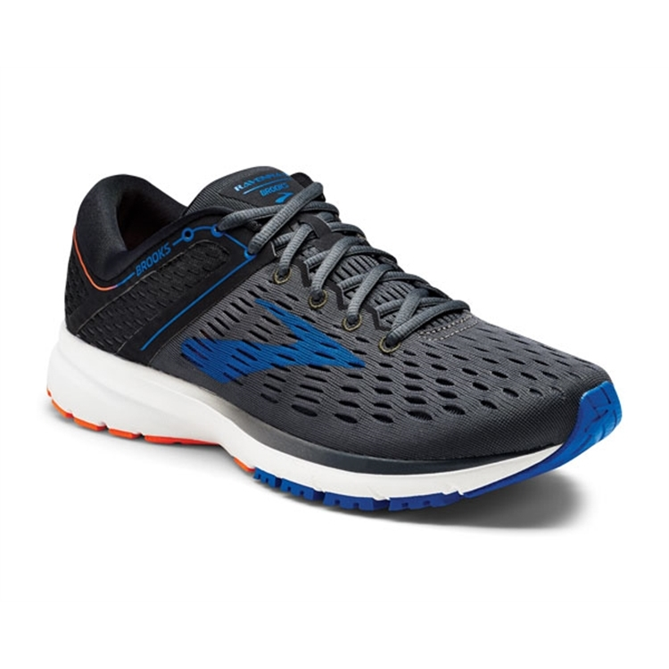 brooks Men's Ravenna 9 Ebony / Blue / Orange
