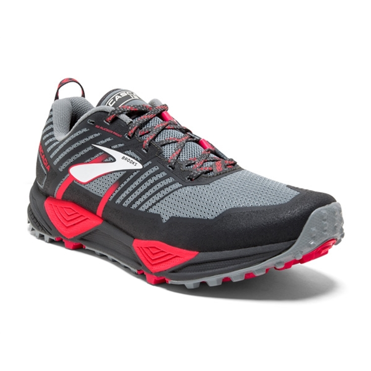 brooks Women's Cascadia 13 Grey / Grey / Pink