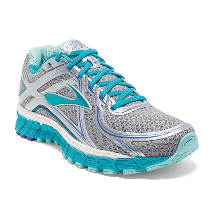 brooks Women's Adrenaline GTS 16 Silver / Bluebird / Blue Tint