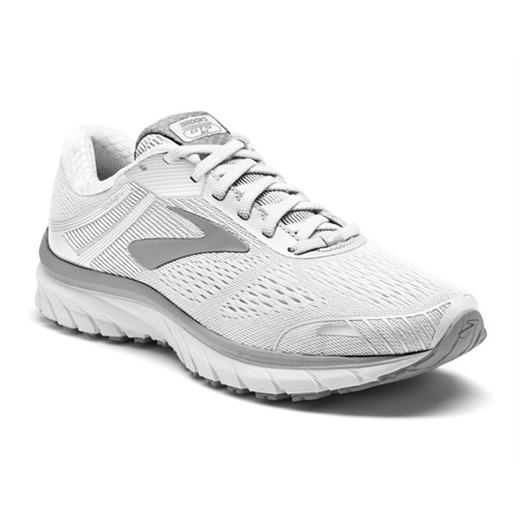 brooks Women's Adrenaline GTS 18 White / White / Grey