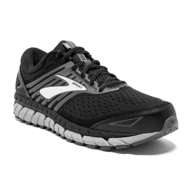 brooks Men's Beast 18 Black / Grey / Silver
