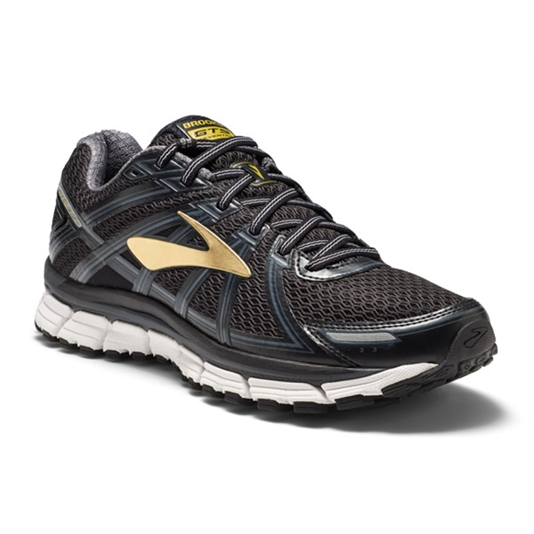 brooks Men's Adrenaline GTS 17 Black / Anthracite / Gold