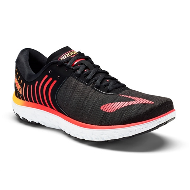 brooks Women's PureFlow 6 Black / Diva Pink / Orange