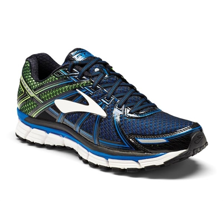 brooks Men's Adrenaline GTS 17 Lapis Blue / Black / Green