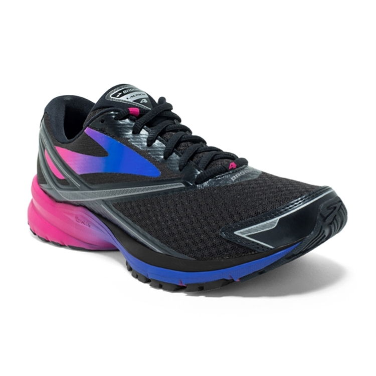 brooks Women's Launch 4 Black / Purple / Blue