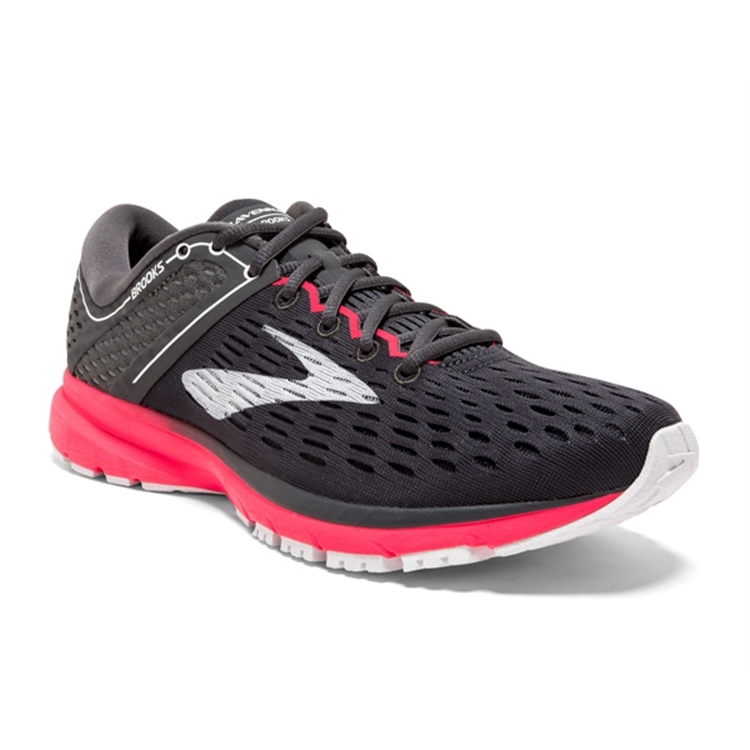 brooks Women's Ravenna 9 Ebony / Diva Pink / White