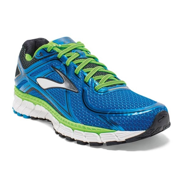 brooks Men's Adrenaline GTS 16 Methyl Blue / GreenGecko / Black