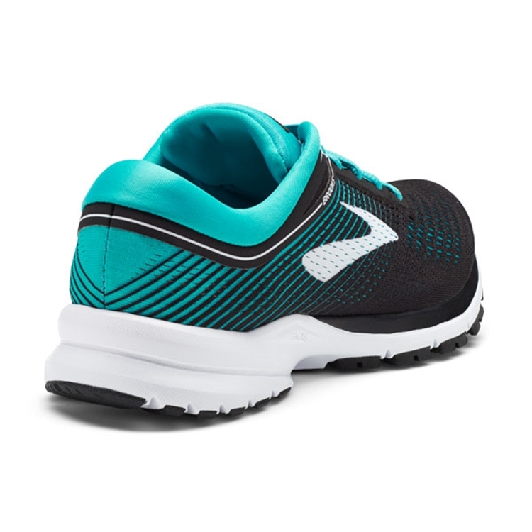 brooks Women\'s Launch 5 Black / Teal Green / White