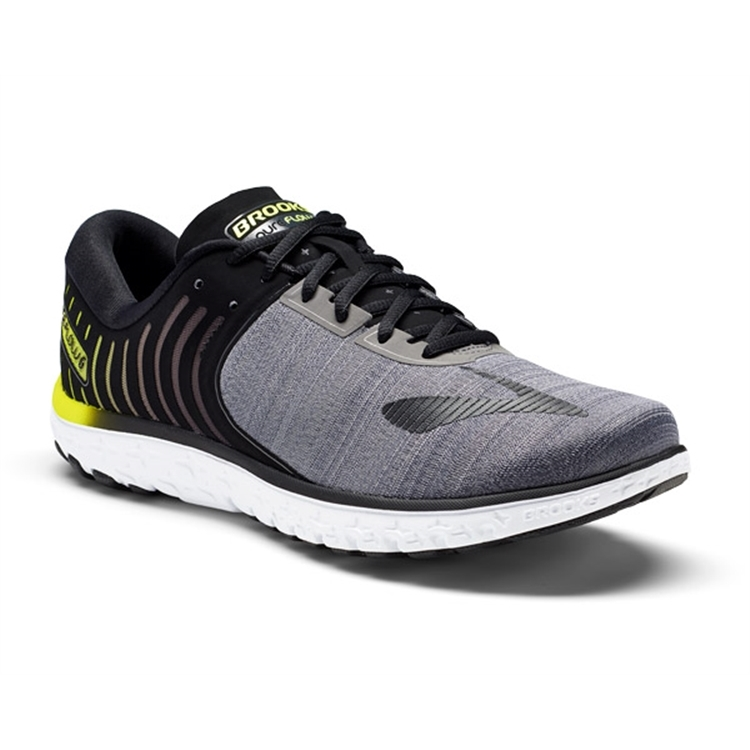 brooks Men's PureFlow 6 Black / Ebony / Lime Popsicale
