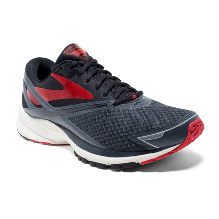 brooks Men's Launch 4 Anthracite / Black / Red