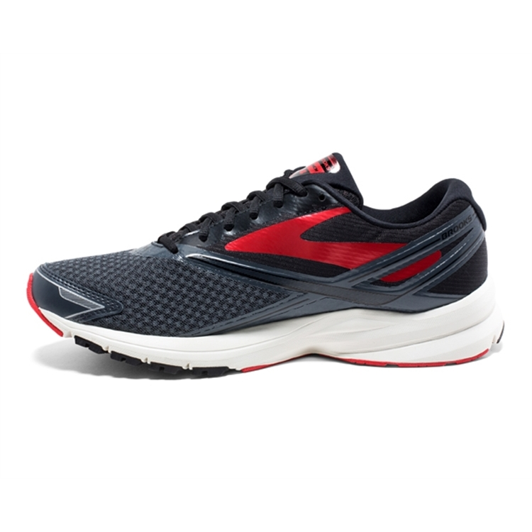 brooks Men\'s Launch 4 Anthracite / Black / Red