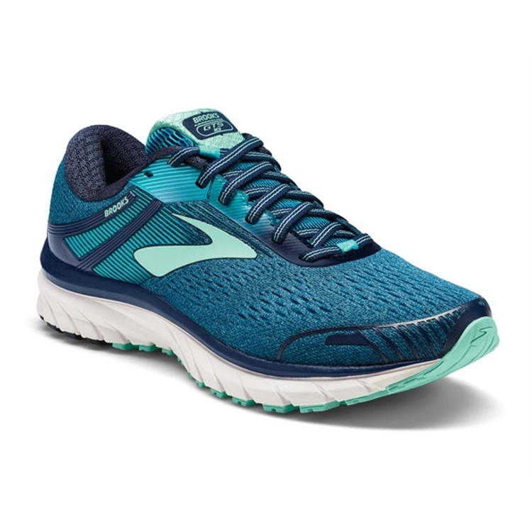 brooks Women's Adrenaline GTS 18 Navy / Teal / Mint