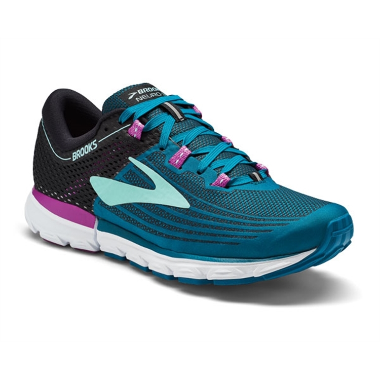 brooks Women's Neuro 3 Lagoon / Black / Purple