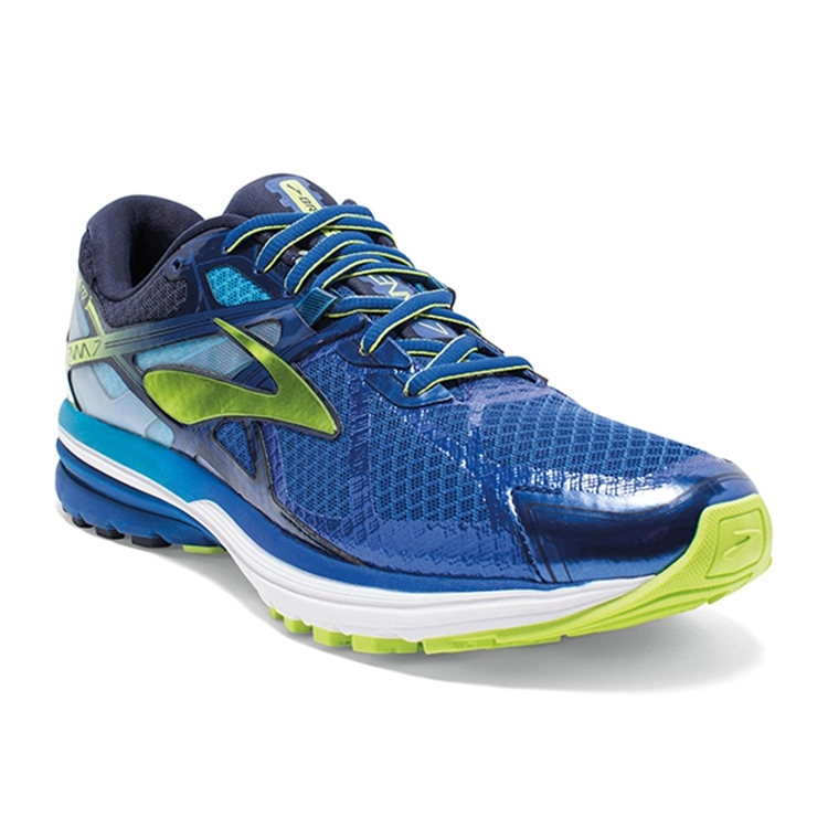 brooks Men's Ravenna 7 Navy / Lime Punch / Peacoat