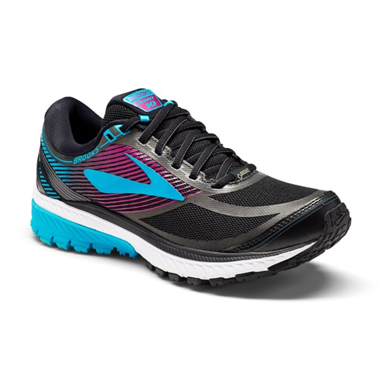 brooks Women's Ghost 10 GTX Black / Blue / Hollyhock