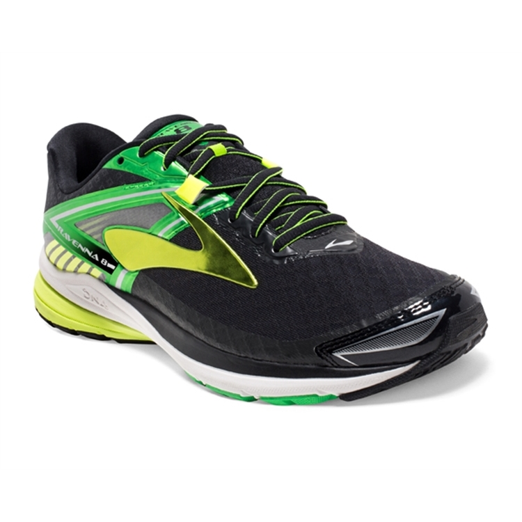 brooks Men's Ravenna 8 Black / Green / Nightlife