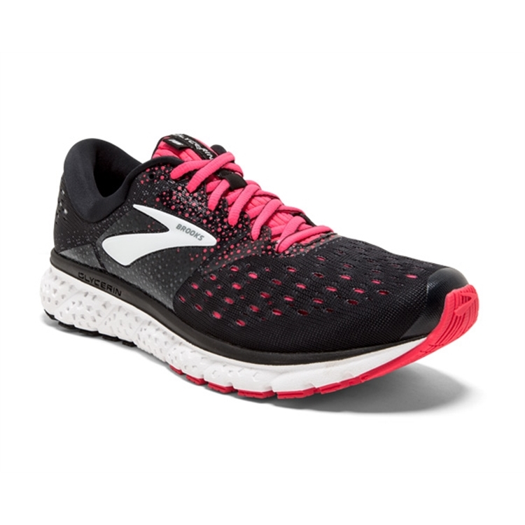 brooks Women's Glycerin 16 Black / Pink / Grey