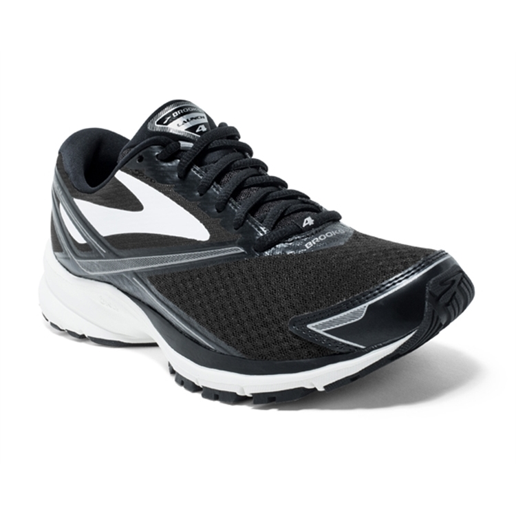 brooks Women's Launch 4 Black / White / Silver