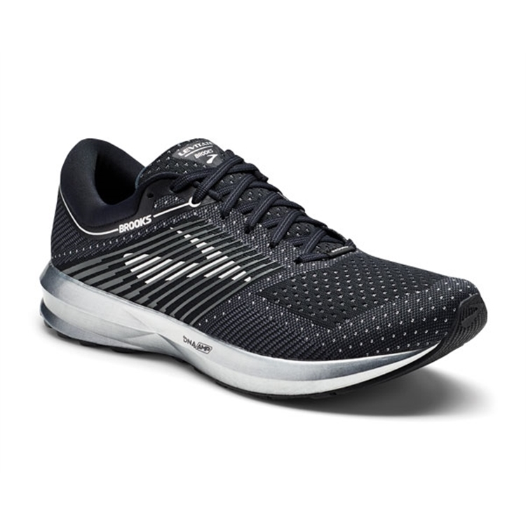 brooks Men's Levitate Black / Ebony / Silver