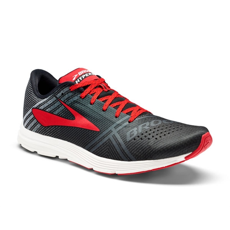 brooks Men's Hyperion Black / White / Toredor