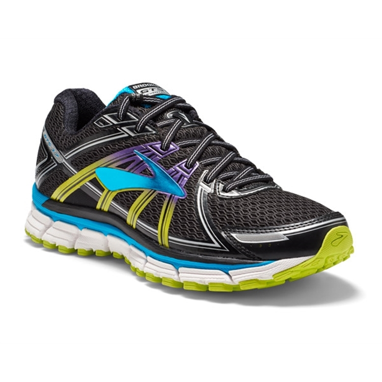brooks Women's Adrenaline GTS 17 Black / Hawaiian Ocean / Lime