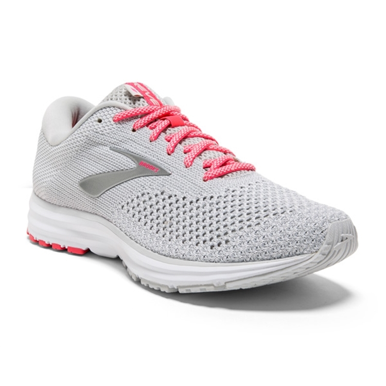 brooks Women's Revel 2 Grey / White / Pink