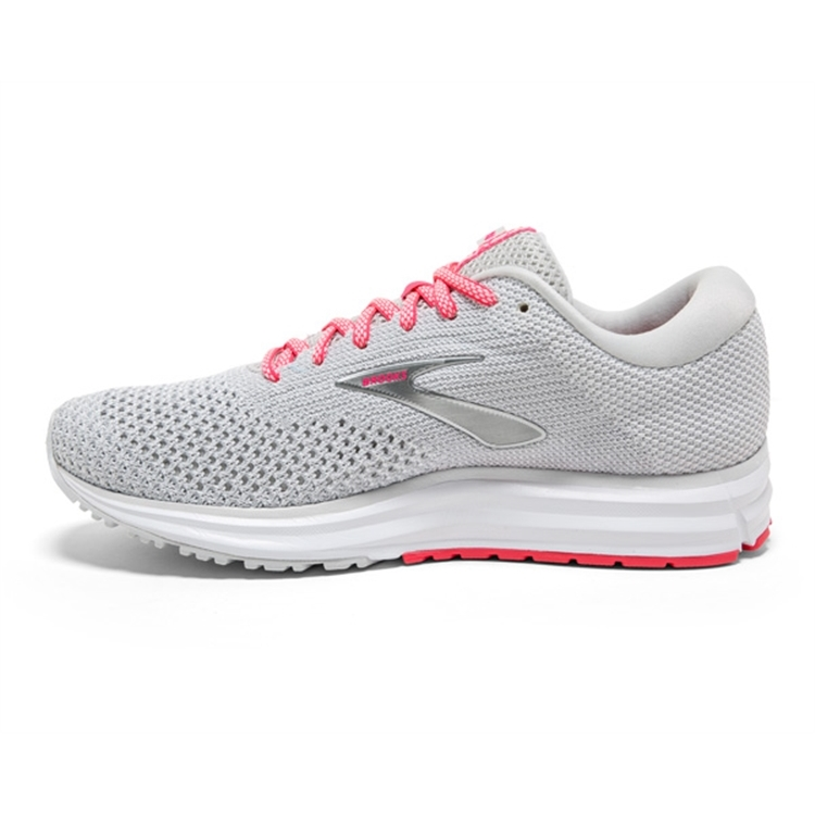brooks Women\'s Revel 2 Grey / White / Pink
