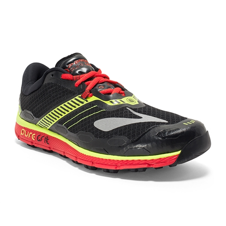 brooks Men's PureGrit 5 Red / Nightlife / Black
